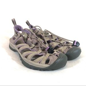 Keen Whisper Hiking Sandal in Purple and Gray